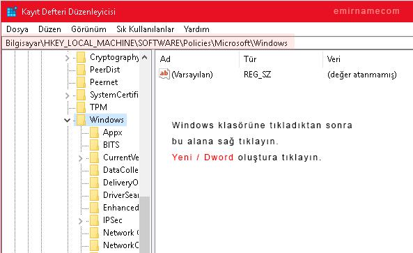 windows kilit ekranı kaldırma
